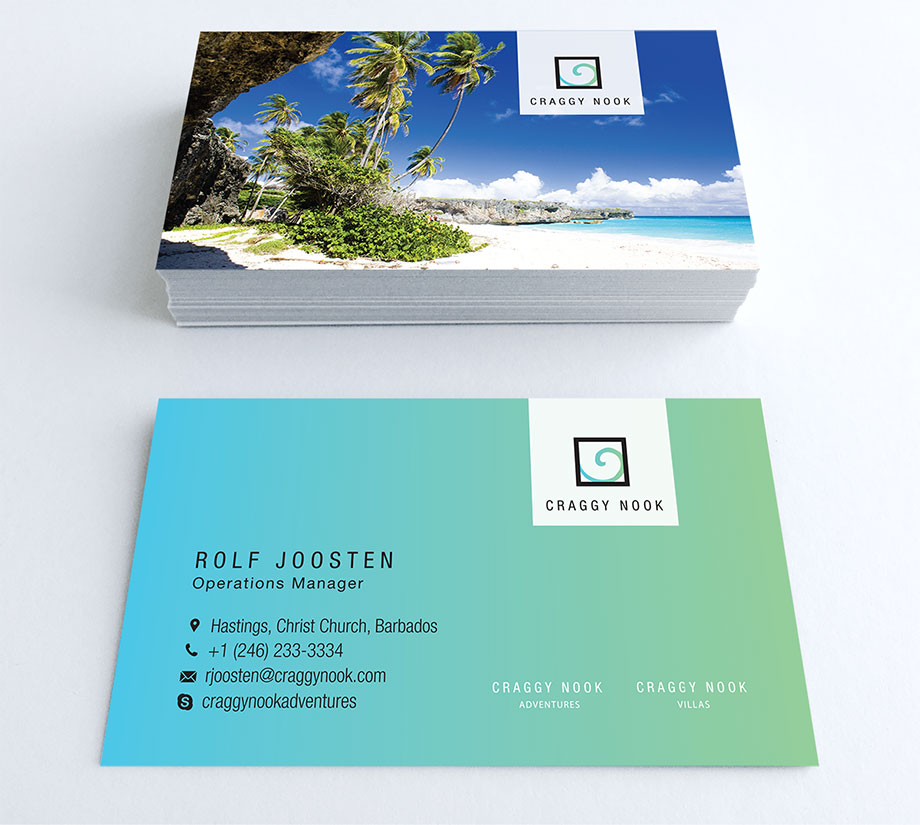Luxury villa branding and business card design