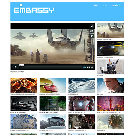 Single page video portfolio website design