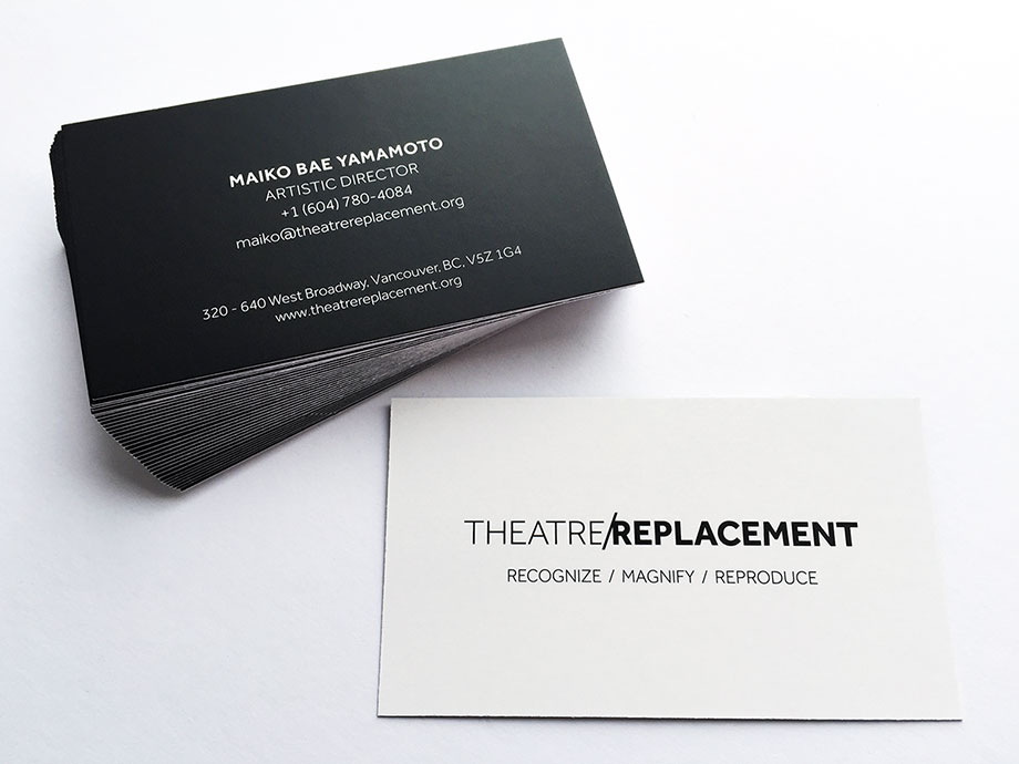 Theatre Company Business Card Design