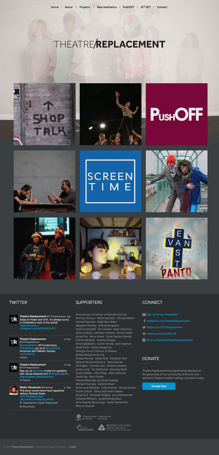 Theatre Company Website Design